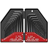 30 tlg Innensechskant Satz HX E·Durable Innensechskantschlüssel Kurzarm Metrisch (0,7 mm-10 mm) Langarm Zoll (0,028'-3/8) CRV Stahl Inbusschlüssel Set für Möbelmontage Fahrradwartung Zerlegen …