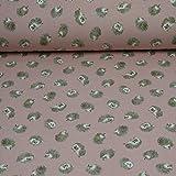 Sweatstoff Igel, Ökotex, rosa (25cm x 155cm)