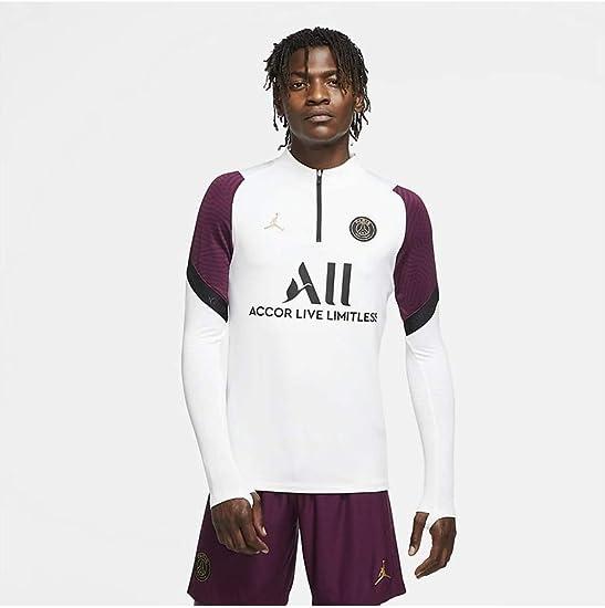 Nike PSG Paris Saint Germain Felpa Allenamento Jordan Bianca 2020-21