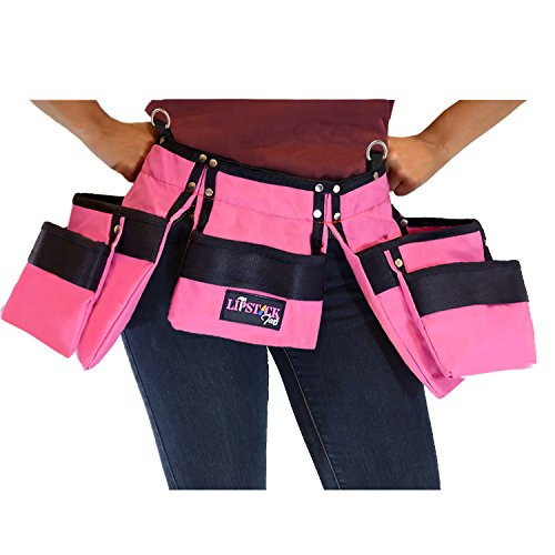 Pink Tool Belt For Women. Keep Your Gardening and Home Improvement Tools Within Hands Reach. Ladies Stylish Belt W/Pouches Carry Your Supplies W/You. Use It For Leisure Or Take It To Work (Adult)