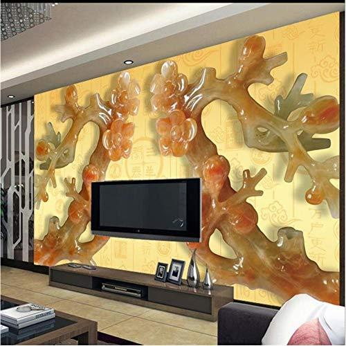 Shuangklei Papier van de muur 3D Aangepaste 3D Woonkamer Tv Behang achtergrond Chinese Grote muurschildering Bestel Behang 200 x 140 cm.