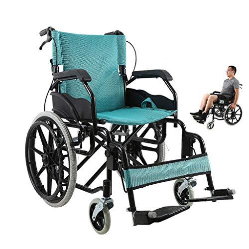 Rollstuhl Faltbar,Kohlenstoffstahl hohe tragfähigkeit Erwachsene Rollstühle,Rollator Faltbar Leichtgewicht,A