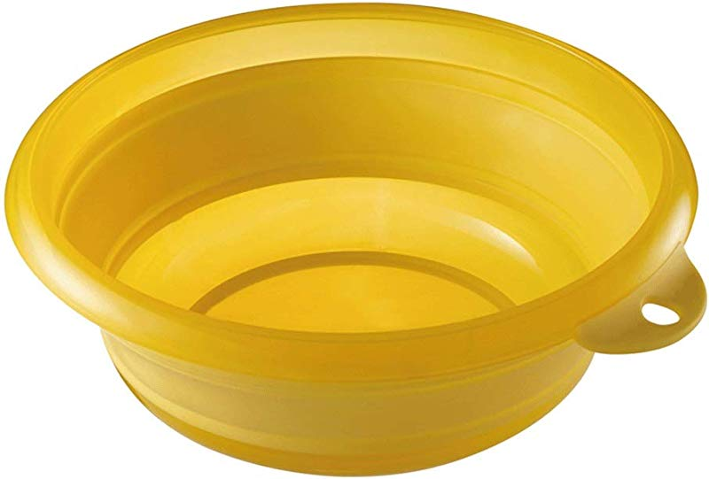 ZHAIZX Collapsible Silicone Washbasin Sink Small Washbasin Washtub Baby Wash Fart Color Yellow