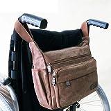 OSL Bolsa de almacenamiento de mochila para silla de ruedas - Bolsa de accesorios de transporte en silla de ruedas, andadores rodantes; Sillas de transporte - Bolsa para silla de ruedas Plega