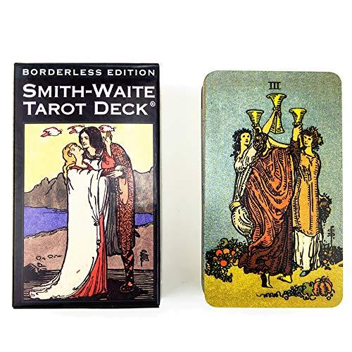 Tarot-Karten 78 Kartenspiel Tarot, Smith Waite Anleitung Englisches Booklet Mit Borderless Edition