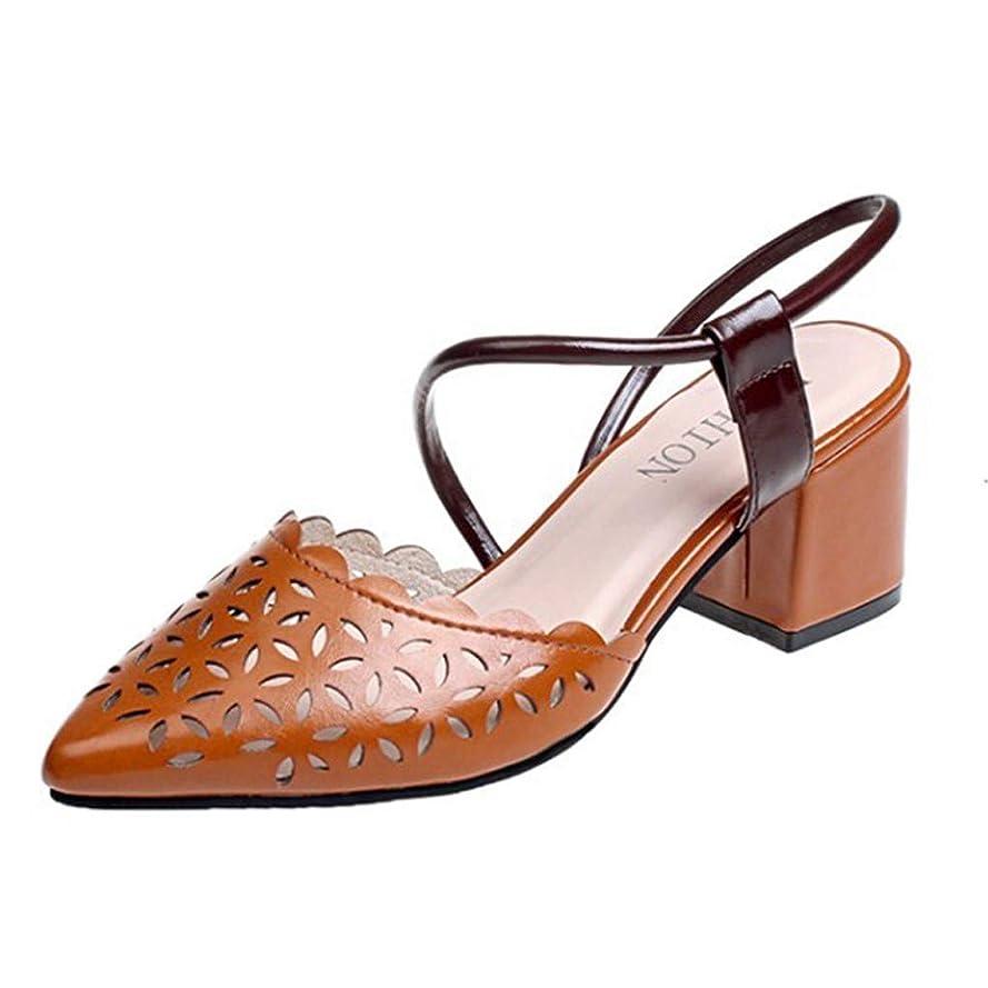 ラジウム新着逆さまに[Rencaifeinimo] 夏の女性ハイヒールの靴サンダルポインテッドサンダルファッションレディースローマンサンダル最新 夏用 レディース お出かけ 美脚 おしゃれ ファッション 水陸両用