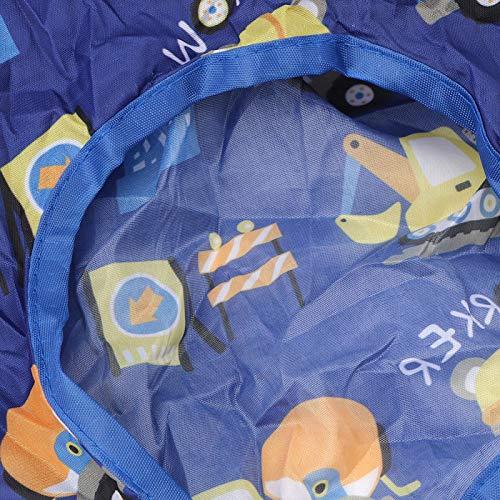 Herramientas de alimentación para bebés, funda para trona de alimentación portátil resistente al agua y duradera, máquina de pongee de poliéster lavada a máquina para bebés(Blue series)