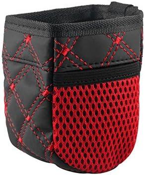 Xmdz Auto Lüftung Mini Veranstalter Tasche Aufbewahrungstasche Vertikal Mit 2 Mesh Seitentaschen Für Handy Münzen Schlüssel Kreditkarten Stifte Gadgets Rot Auto