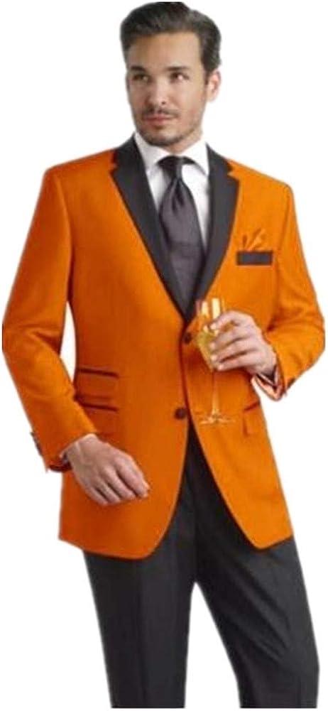 2 Pieces(Jacket+Pants) Suits for Men Slim Fit Prom Suit Blazer Causal Groom Tuxedo