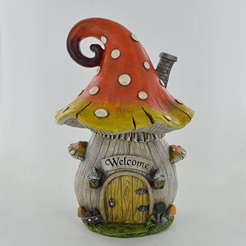 Prezents.com Fairy Garden UK Sculpture en forme de champignon bouclé pour lutin 23 cm
