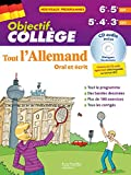 Objectif Collège - Tout l'Allemand pour...