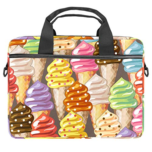 Laptop Bag Cartoon Icecream Notebook Sleeve with Handle 13.4-14.5 inches Carrying Shoulder Bag Briefcase
