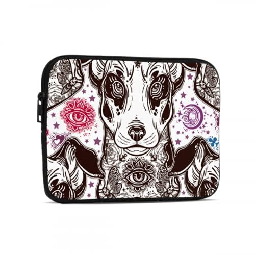 Bolsa para computadora Funda para computadora portátil American Pit Bull Terrier Compatible con iPad 7.9/9.7 Pulgadas Bolsa Protectora para Tableta con Cremallera de Neopreno a Prueba de