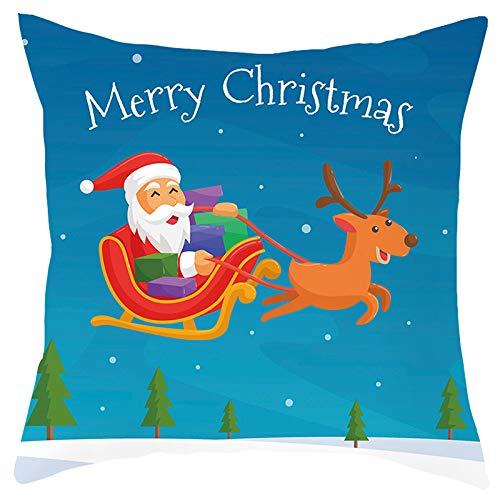 CAIZHAO Vrolijke Kerst Kussen Covers, Zacht en kwaliteit materiaal voor comfortabel duurzaam gebruik, 45 x45cm 06*