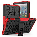 ROISKIN Kindle Fire HD 8 & Fire HD 8 Plus Tablet-Hülle (10. Generation 2020), zweischichtige, rutschfeste, stoßfeste Rüstungsschutzhülle mit Ständer für Amazon Fire HD 8/8 Plus Tablet