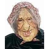 NET TOYS Halloweenmaske Horrormaske Hexen Maske Oma Masken Alte Dame Walpurgisnacht Hexe Halloween Halloweenmaske Kostüm Accessoires