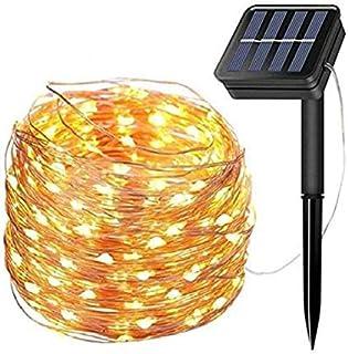 LiyuanQ Solar String Lights, 200 LED Solar Fairy Lights 72 Feet 8 Modes Copper Wire Lights Waterproof Outdoor String Light...