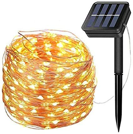 LiyuanQ Solar String Lights, 200 LED Solar Fairy Lights 72 Feet 8 Modes Copper Wire Lights Waterproof Outdoor String Lights for Garden Patio Gate Yard Party Wedding Indoor Bedroom - Warm White