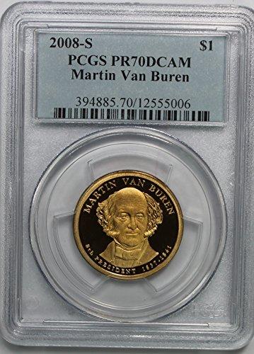 2008 S Martin Van Buren Presidential Commemorative $1 PR70DCAM...