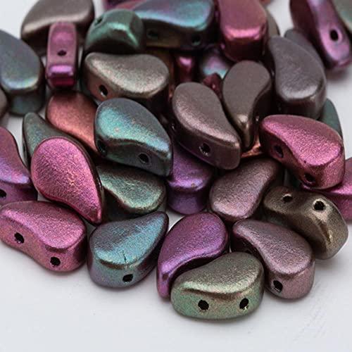 Paisley Beads Czech Boncuk Perles Pendientes Hecho Prenda Diy Perles De Rocaille 8 * 5mm Color Turquesa 3grams Aproximadamente 10pcs-PD007
