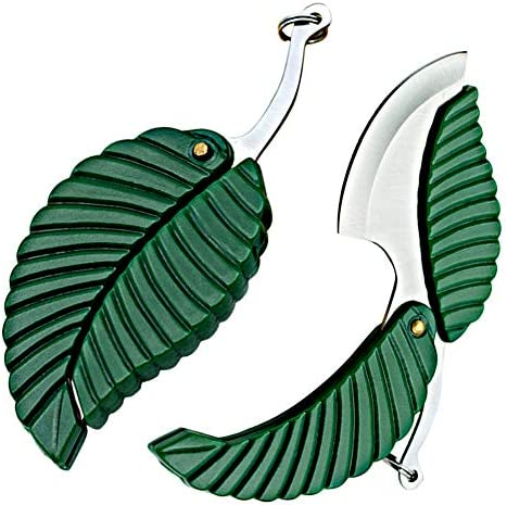 2 Pack Mini Portable Green Leaf Knife Business Gift Creative Key Accessories Folding Pocket product image