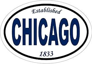 WickedGoodz Established 1833 Chicago Vinyl Window Decal - Chicago Bumper Sticker - Vacation Souvenir Gift