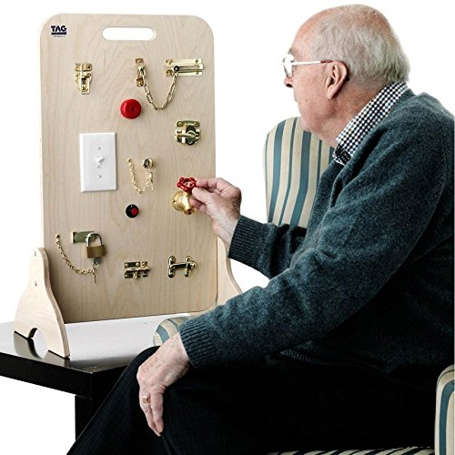 Memory & Mental Stimulation for Alzheimer's & Dementia – Memory Loss Toy Standing Latch & Key Center