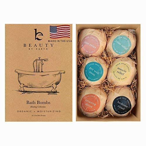 Bath Bombs Gift Set - 6 Large Natural & Organic, Birthday Gifts for Women, Bath Bomb Gifts for Her,...