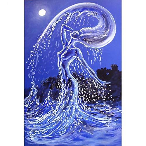 Yminng Diamond Painting Cartoon Diamond Embroidery Cross Stitch Sea Lady Round Full Drill Mosaic Kit Garden Decoration - Square Drill,100x120cm