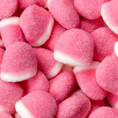 Strawberry Pufflettes Pink & White Gummy Bites 1LB Bag