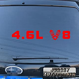 3S MOTORLINE 4.6L V8 Car Vinyl Decal Sticker Fit for Cadillac Ford Mustang Land Cruiser pick color size (red, 12'' (30.5cm))