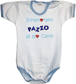 BODY INNAMORATO/A Di MIO ZIO con nome o scritta personalizzata