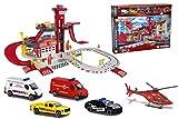Majorette Creatix Rescue Station, Feuerwehrstation, Rettungsstation inkl. 4 Autos, inkl. 1...