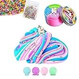 DIY Puffy Schleim - 4 Farben Unicorn Jumbo Floam Cloud Bunter Regenbogen Slime Stress Relief Toy für Kinder und Erwachsene Weich, dehnbar und Nicht klebrig