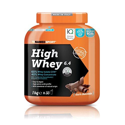 NAMEDSPORT HIGH WHEY 1KG (GUSTO COOKIES&CREAM) Proteine del Siero del Latte isolate e concentrate Carbery (60-40%), con L-Glutammina, Enzimi e Vitamine + OMAGGIO - NT INTEGRATORI GARANZIA DI QUALITA'