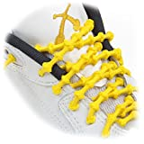 "XTENEX - X300 Yellow 20"" (PATENTED) Adjustable Eyelet Blocking No Tie Elastic Shoe Laces for an Extreme Lock In Performance Fit"
