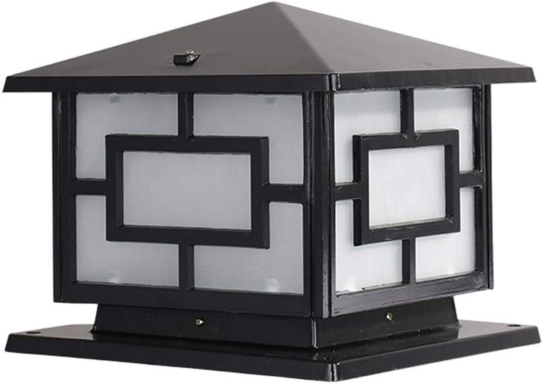 Pinjeer IP55 Wasserdichte E27 Glas Outdoor Landschaft Spalte Lampe Europischen Vintage Antike Aluminium Post Licht Zaun Gemeinschaftsgarten Tür Rasen Dekorative Sule Lampe