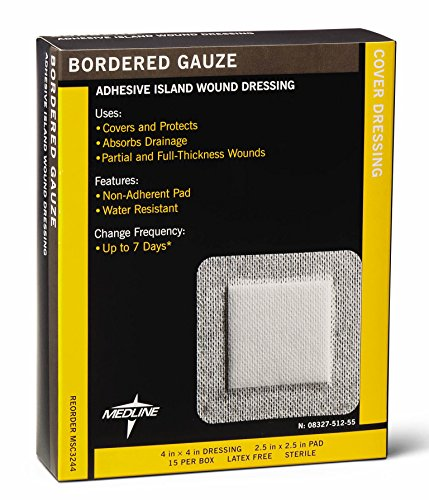 MEDLINE MSC3244 MSC3244Z Sterile Bordered Gauze (Pack of 15)