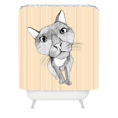 DENY Designs Hülley Rogers Big Head Shower Curtain, 69