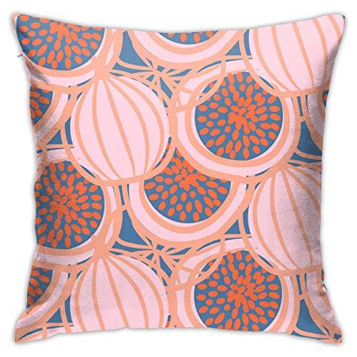 MZZhuBao Funda de almohada abstracta de higo dibujado fruta rosa fuerte decorativa para el hogar para hombres/mujeres sala de estar dormitorio sofá silla