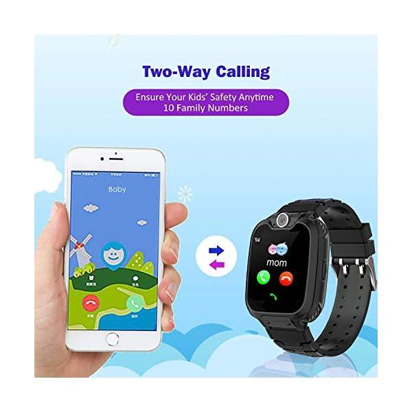 Niños Smart Watch Phone, La Musica Smartwatch para niños de 3-12 años Niñas con cámara Ranura para Tarjeta SIM Juego de… 3