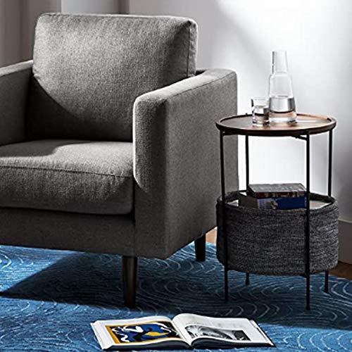 Mesa decorativa, mesa auxiliar gris de mesas de té clásicas Mesa auxiliar Mesa auxiliar para el hogar para sala de estar