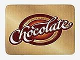 ABAKUHAUS Chocolate Tapete para Baño, Maestro Chocolatero sesión, Decorativo de Felpa Estampada con Dorso Antideslizante,...