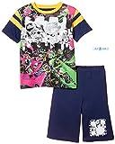[バンダイ] パジャマ スプラトゥーン光る半袖 ボーイズ ネイビー 日本 140 (日本サイズ140 相当)