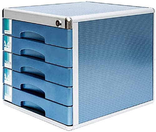 N/Z Home Equipment Desktop File Storage Box Desktop File Cabinet Drawer Type Metal Office with Lock Desk Storage 5 Layer Combined Data Cabinet Creative File Rack