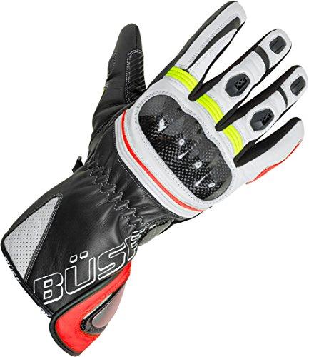 Büse Misano Handschuhe 10 Schwarz/Weiß/Gelb/Rot