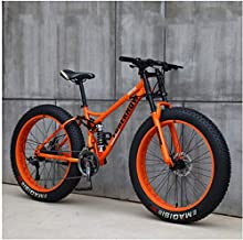 CDFC Fat Tire Mountain Bike, 26 inch Mountain Bike Bicycle with disc Brakes, Frames from Carbon Steel, MTB for Men and Women