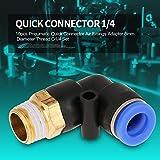 Cierre rápido, racor de tubo, conector acodado, para conexión de tubo