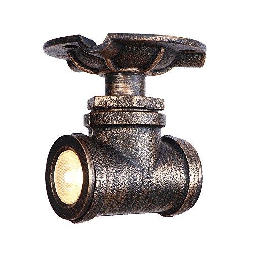 L.HPT Foco LED, Industria Montaje Empotrado Luz De Techo Lámpara De Suspensión De Hierro Forjado Colgante Luminaria Foyer Escalera Cocina Balcón Dormitorio, Brown