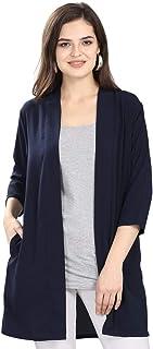 Serein Women's Blouson Coat (SER-E-118-XXL_Navy Blue_XX-Large)